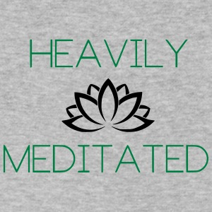 Heavily Meditated Yoga Yogi Design - Men's V-Neck T-Shirt by Canvas