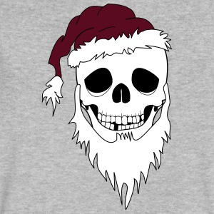 christmas skull - Men's V-Neck T-Shirt by Canvas