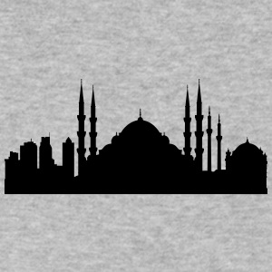 Istanbul silhouette - Men's V-Neck T-Shirt by Canvas