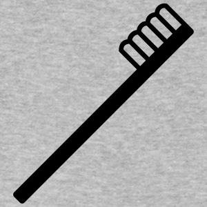 tooth brush - white - Men's V-Neck T-Shirt by Canvas