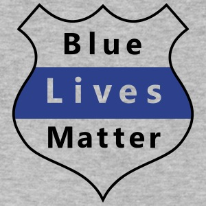 Blue Lives Matter - Men's V-Neck T-Shirt by Canvas