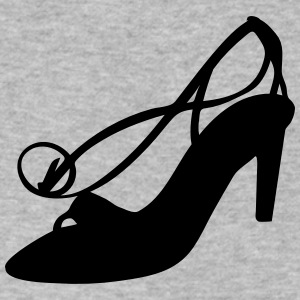 Vector high heels shoes Silhouette - Men's V-Neck T-Shirt by Canvas
