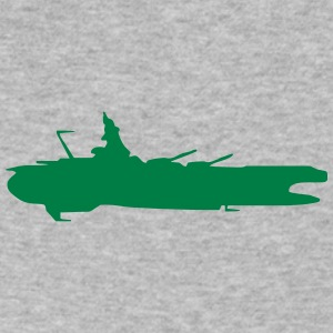 Spaceship vector Silhouette - Men's V-Neck T-Shirt by Canvas