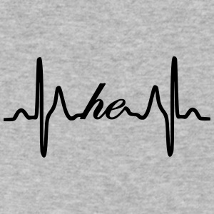 He ECG Heartbeat - Men's V-Neck T-Shirt by Canvas