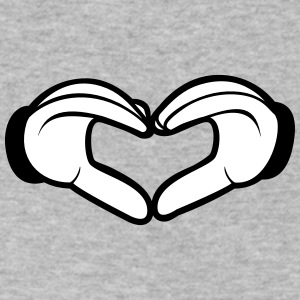 Comic hands love - Cartoon Heart - Men's V-Neck T-Shirt by Canvas