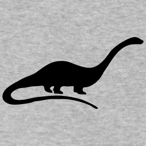 Dinosaur vector Silhouette - Men's V-Neck T-Shirt by Canvas