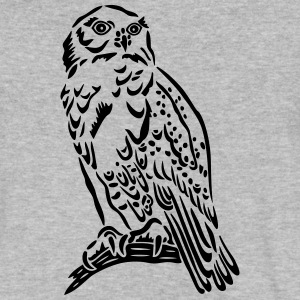 Beautiful Snowy Owl in Tattoo Style. - Men's V-Neck T-Shirt by Canvas