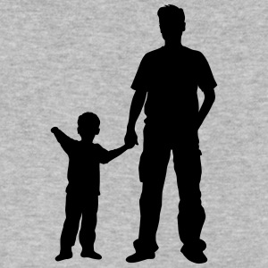 father and son - Men's V-Neck T-Shirt by Canvas