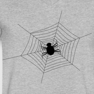 Black Spider Web - Men's V-Neck T-Shirt by Canvas