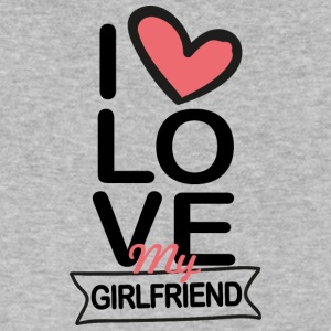 I love my Girlfriend - Men's V-Neck T-Shirt by Canvas