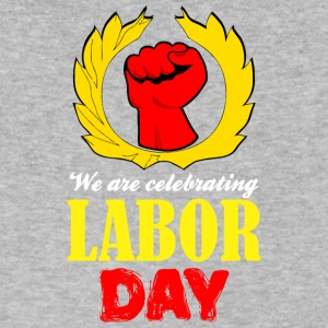 We Are Celebrating Labor Day Symbol - Men's V-Neck T-Shirt by Canvas
