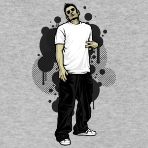 street_break_dancer - Men's V-Neck T-Shirt by Canvas