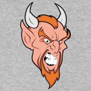 angry_devil_with_horns - Men's V-Neck T-Shirt by Canvas
