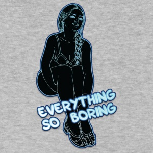 EVERYTHING_SO_BORING_BLACK_NEON - Men's V-Neck T-Shirt by Canvas