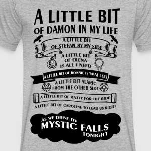 TVD Song (b/w) - Men's V-Neck T-Shirt by Canvas