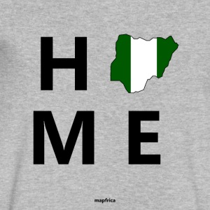Nigeria Home Flag Map - Men's V-Neck T-Shirt by Canvas