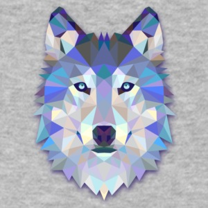 Wolf - Men's V-Neck T-Shirt by Canvas