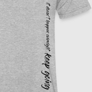 It Doesn't Happen Overnight - Keep Going - Men's V-Neck T-Shirt by Canvas