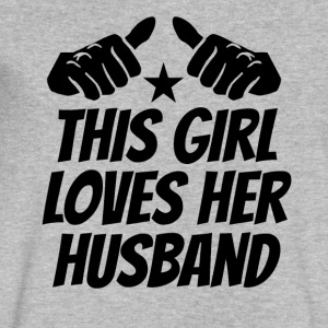 This Girl Loves Her Husband - Men's V-Neck T-Shirt by Canvas