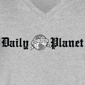 Daily Planet - Men's V-Neck T-Shirt by Canvas