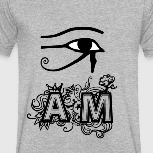 I AM - Men's V-Neck T-Shirt by Canvas