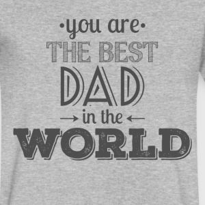 Father's Day Best Dad Gift - Men's V-Neck T-Shirt by Canvas