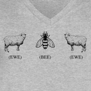 Ewe Bee Ewe - Men's V-Neck T-Shirt by Canvas