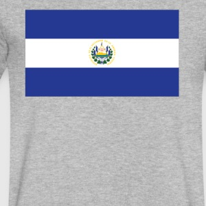 Flag of El Salvador Cool El Salvadorian Flag - Men's V-Neck T-Shirt by Canvas