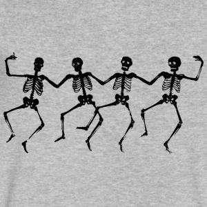 Dancing Skeletons - Men's V-Neck T-Shirt by Canvas