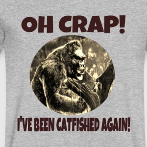 Oh Crap! I've Been Catfished Again! - Men's V-Neck T-Shirt by Canvas
