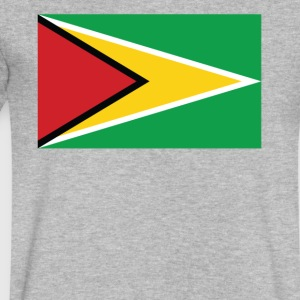 Flag of Guyana Cool Guyanan Flag - Men's V-Neck T-Shirt by Canvas
