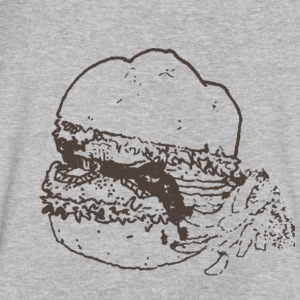 burger - Men's V-Neck T-Shirt by Canvas