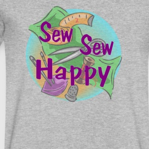 Sew Sew Happy - Men's V-Neck T-Shirt by Canvas
