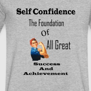 self-confidence shirt - Men's V-Neck T-Shirt by Canvas