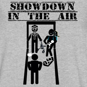 Showdown In The Air - American Fiasco - Men's V-Neck T-Shirt by Canvas