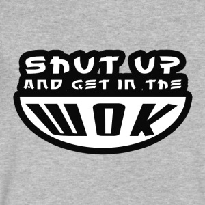 Shut Up and get in the Wok - Men's V-Neck T-Shirt by Canvas