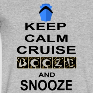 Keep Calm Cruise Booze and Snooze - Men's V-Neck T-Shirt by Canvas