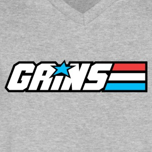 Gains Joe - Men's V-Neck T-Shirt by Canvas