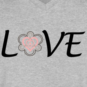 Adoption is LOVE - Men's V-Neck T-Shirt by Canvas