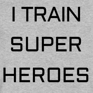 I TRAIN SUPER HEROES - Men's V-Neck T-Shirt by Canvas
