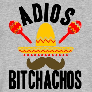 ADIOS Bitchachos Funny Mexican Moustache - Men's V-Neck T-Shirt by Canvas