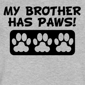 My Brother Has Paws - Men's V-Neck T-Shirt by Canvas