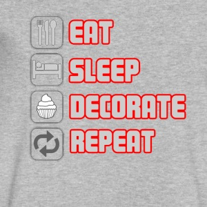 EAT SLEEP DECORATE REPEAT T-shirt - Men's V-Neck T-Shirt by Canvas