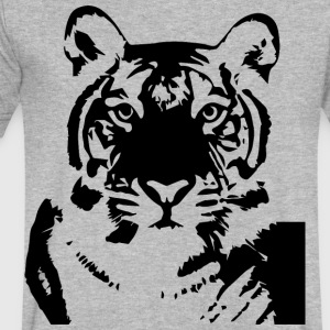 Tiger - Men's V-Neck T-Shirt by Canvas