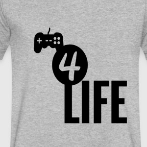 Gamer4life - Men's V-Neck T-Shirt by Canvas