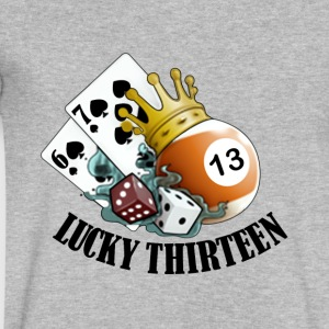 Lucky Thirteen - Men's V-Neck T-Shirt by Canvas