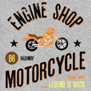 Engine Shop Motorcycle - Men's V-Neck T-Shirt by Canvas