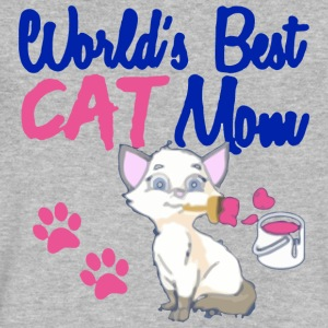 World s Best Cat Mom - Men's V-Neck T-Shirt by Canvas