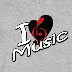 I love music - Men's V-Neck T-Shirt by Canvas
