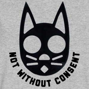 Not Without Consent (Black) - Men's V-Neck T-Shirt by Canvas